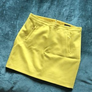 JCrew 100% wool yellow mini skirt, Size 12
